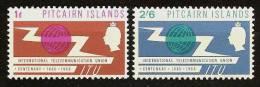 PITCAIRN ISL. 1965 - Century ITU - 2v Mi 52-53 MNH ** Cv€18,00 V732 - Pitcairn