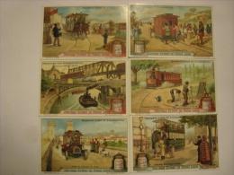Liebig - Série Complète De 6 Chromos -Tramways D'hier Et D'aujourd'hui - S1104  - éd. Belge - 1914-1920 (lot67) - Liebig