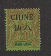 """N277- FRENCH OFFICES IN CHINE. .SCOTT #: 24  MH  - """" CHINE """" IN BLACK OVERPRINTED - Nuevos"""