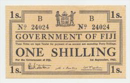 Fiji 1 Shilling 1942 AUNC+ P 49b  49 B - Fidji