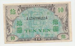 JAPAN 10 YEN 1945 VF P 71 - Japan
