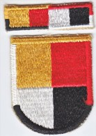 FULL SIZE  BERET  FLASH  And  RECOGNITION  BAR   3 Rd.  SPECIAL  FORCES  GROUP - Patches