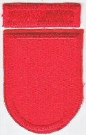 FULL SIZE  BERET  FLASH  And  RECOGNITION  BAR  7 Th.  SPECIAL  FORCES  GROUP - Patches