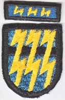 FULL SIZE  BERET  FLASH  And  RECOGNITION  BAR  12 Th.  SPECIAL  FORCES  GROUP - Patches