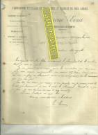 58 - Nièvre - MONCEAUX-LE-COMTE - Facture EVRA - Menuiserie Et Meubles – 1904 - 1900 – 1949