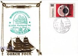 SSS Gorch Fock Kiellegung Blohm & Voss Used Hamburg 1983 (G63-23) - Ships