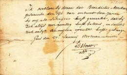 Benedictus ( Benoit) MERCKAERT - Attest 1827 Voor 2 Jaar Werk Als Schrijver Bij Advokaat In GENT  -- C2/474 - Manuscrits