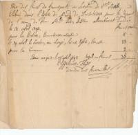 Julie Justine MERCKAERT - Etat Des Frais Des Funérailles ( Eglise Du Finistére Bruxelles) 1843  -- C2/476 - Manuscrits
