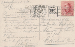 BELGIQUE - Jeux Olympiques Anvers 1920 - Le Cachet  RARE Mécanique GENT 1 S/ TP Petit Albert  Casqué  --  C2/482 - Ete 1920: Anvers