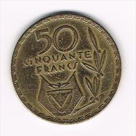 .. RWANDA  50 FRANCS 1977 - Rwanda