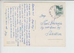 Ship TPO 309 SPLIT - SUMARTIN Used 1961schiff Navire Cancel Croatia - Lettres & Documents
