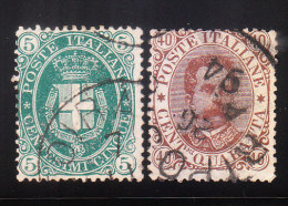 Italy 1889 Arms Of Savoy & Humbert I Used - Usati