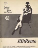 # ABITI CONFEZIONI SANREMO 1950s Advert Pubblicità Publicitè Reklame Suits Vetements Vestidos Anzugen - He