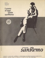 # ABITI CONFEZIONI SANREMO 1950s Advert Pubblicità Publicitè Reklame Suits Vetements Vestidos Anzugen - Signore