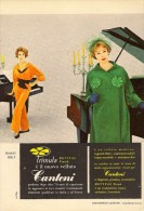 # ABITI VELLUTO CANTONI 1960s Advert Pubblicità Publicitè Reklame Suits Vetements Vestidos Anzugen - Vintage Clothes & Linen