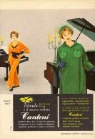 # ABITI VELLUTO CANTONI 1960s Advert Pubblicità Publicitè Reklame Suits Vetements Vestidos Anzugen - Vestiti & Biancheria D'epoca