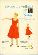 # ABITI VELLUTO CANTONI CASTELLANZA VARESE 1960s Advert Pubblicità Publicitè Reklame Suits Vetements Vestidos Anzugen - Vintage Clothes & Linen