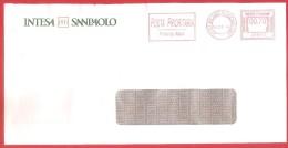 ITALIA REPUBBLICA BUSTA CON EMA - 2014 -  INTESA SANPAOLO - € 0,70 - MILANO ROSERIO 14 - 05 - 2014 - Affrancature Meccaniche Rosse (EMA)