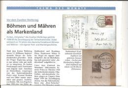 Böhmen & Mähren, Sudetenland, Postgeschichtliches Au 3 DIN A 4 Seiten - Philately And Postal History