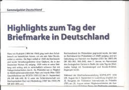 Tag Der Briefmarke 1936 - 49 Und Vorgeschichte, 4 DIN A 4 Seiten - Philately And Postal History