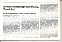 Rumänien, (Moldau Fürstentum) Ochsenköpfe I. + II. Ausgabe, Sehr Detaillierte Informationen, Stempel, Viele Abbildungen - Filatelia E Historia De Correos