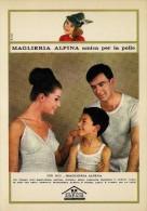 # MAGLIERIA ALPINA 1950s Advert Pubblicità Publicitè Reklame Underclothes Lingerie Ropa Intima Unterkleidung - Biancheria Intima