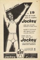 # MAGLIERIA CIT JOCKEY 1950s Advert Pubblicità Publicitè Reklame Underclothes Lingerie Ropa Intima Unterkleidung - He