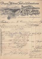 Allemagne, Saarbrücken, Produits Pour Droguerie  L. Sander 1902  (voir Explications) - Droguerie & Parfumerie