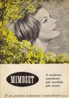 # ASSORBENTI MIMOSET 1950s Advert Pubblicità Publicitè Reklame Absorbents Serviettes Hygieniques - Biancheria Intima