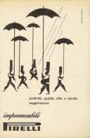 # IMPERMEABILI PIRELLI 1950s Advert Pubblicità Publicitè Reklame Impermeables Raincoats - Accessori