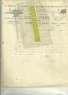 61 - Orne - ALMENECHES - Facture PLIVARD - Charron - Menuiserie – 1919 - France