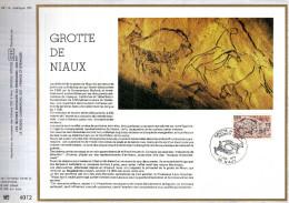 Feuillet Tirage Limité  CEF 491 La Grotte De Niaux - Cartas