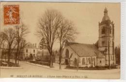 NOGENT-LE-ROTROU - L´Eglise Saint-Hilaire Et La Place, Edit.   LL. , 1919 - Nogent Le Rotrou