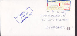 Czech Republic JIHLAVA 1995 Meter Stamp Cover Brief To BALLERUP Denmarkl - Tschechische Republik