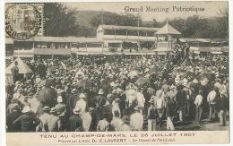 Port Louis Gd Meeting Patriotique 26/7/07 Dr E. Laurent Député Texte Au Dos Lord Elgin LMinistre Ciolonies - Maurice