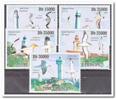 Sao Tome E Principe 2009 Postfris MNH, Birds, Lighthouses - Sao Tome En Principe