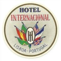 HOTEL INTERNACIONAL - Lisboa - Portugal -  Label - Hotel Labels