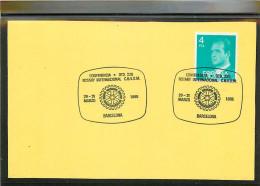 ESPANA -  BARCELONA  -  CONFERENCIA ROTARY  INTERNATIONAL  C.B.V.O.M. - 1981-90 Storia Postale