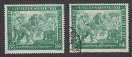 Alliierte Besetzung Leipziger Messe 1948 - Nr. 968 C (ArGe Farbbestimmt) - Postfrisch Und Gestempelt - Gemeinschaftsausgaben