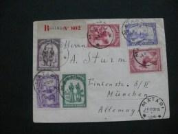 Congo Belge 1932 Lettre Recommandée De Matadi Pour München ( Cachet Ovale )  Scan - Belgian Congo