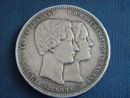 BELGIQUE - 5 FRANCS 21/22 AOUT 1853. LEOPOLD PREMIER  ROI DES BELGES. POS A. - 1831-1865: Léopold I.