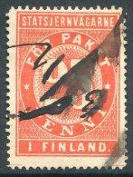 Russia Finland 1881 State Railways (VR) 25 Penni Railway Parcel Eisenbahn Paketmarke Chemin De Fer Colis Russie Russland - Trenes