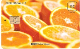 ISN-155 TARJETA DE ESPAÑA DE ISERN DE LA SERIE FRUTAS Nº18  NARANJAS - Alimentación