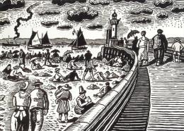 Henri De Saint-Delis - Honfleur, La Plage - Paintings