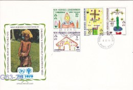New Hebrides FDC: 1979 International Year Of The Child   (G63-24) - Leyenda Francesa