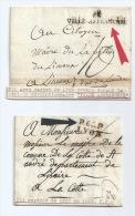 LOT DE 2 MP 68 VILLE AFFRANCHIE (LYON DURANT LA PERIODE REVOLUTIONNAIRE)  & PORT PAYE DE LYON 1819 - 1701-1800: Précurseurs XVIII