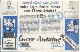 Bureau/ Encres Antoine /stylo à Plume Stylo à Bille / /vers 1945-1955     BUV141 - Buvards, Protège-cahiers Illustrés