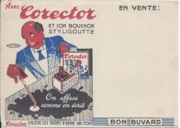 Bureau/Corector /et Son Styligoutte/ /vers 1945-1955     BUV142 - Buvards, Protège-cahiers Illustrés