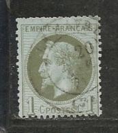 NAPOLEON III LAURE N° 25 OBLITERATION CàD - NI CLAIR NI AMINCI - 1863-1870 Napoleon III With Laurels