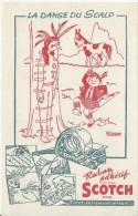 Bureau/Ruban Adhésif Scotch:Tient Tellement Mieux /La Danse Du Scalp  /vers 1945-1955     BUV143 - Buvards, Protège-cahiers Illustrés